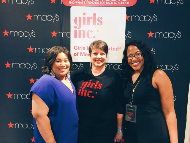 Me with Lisa Moore, Girls Inc Memphis President + CEO, and Saisha Delevoe, Macy's Special Events Coordinator