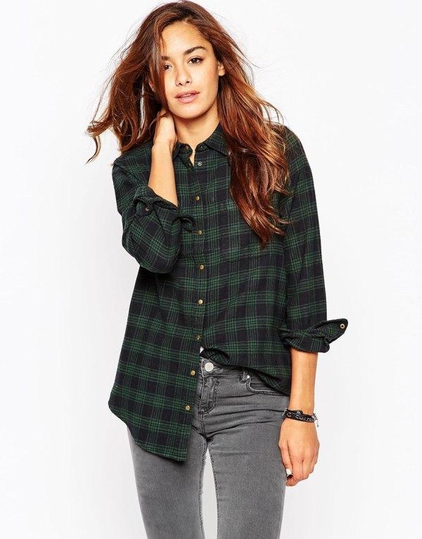 ASOS Winter Check Boyfriend Shirt