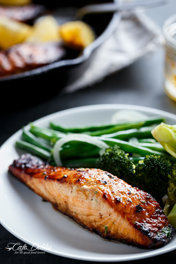 Grilled-Honey-and-Browned-Garlic-Butter-Salmon