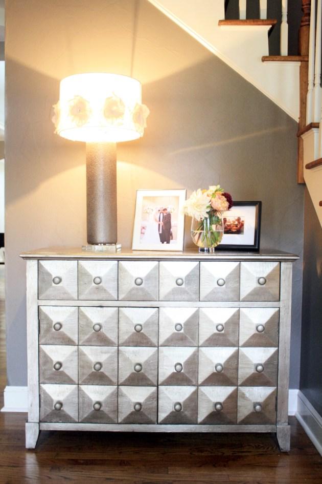 Foyer-lighting-floral-lamp