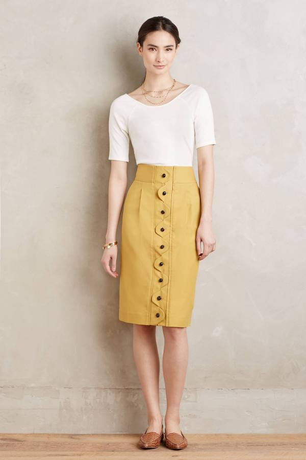 Ada Button Front Skirt