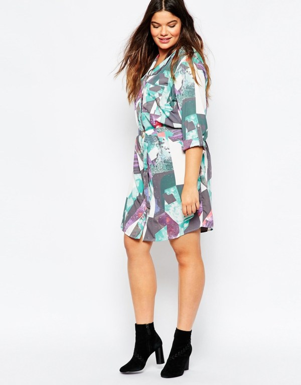 Junarose Printed Shirt Dress