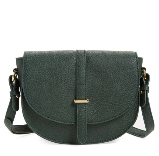 Faux Leather Saddle Crossbody Bag