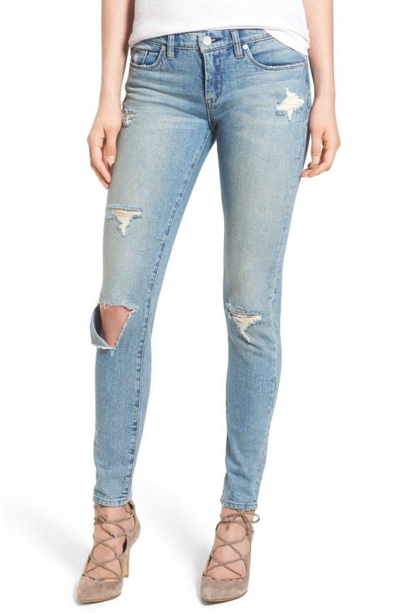 'Skinny Dipper' Distressed Skinny Jeans