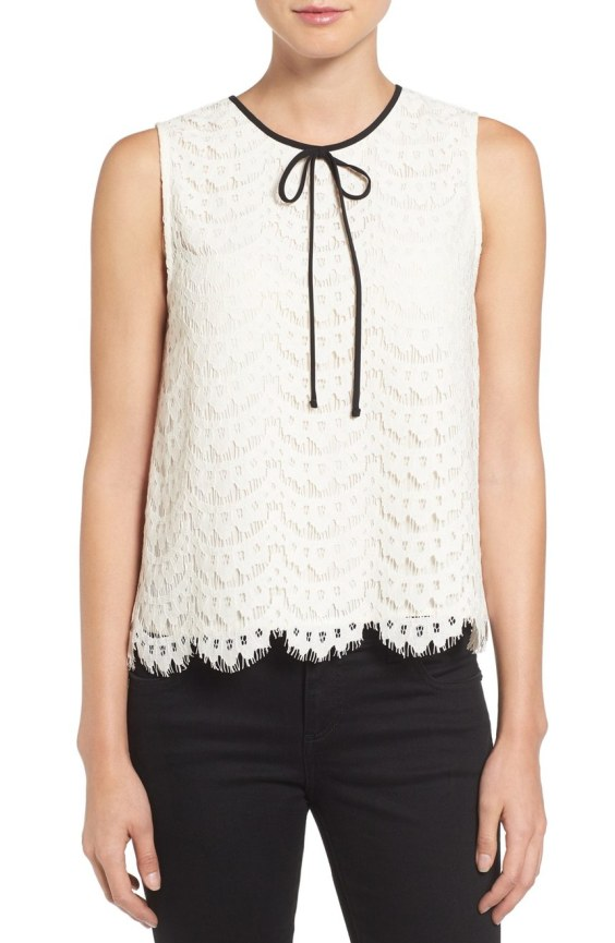 Tie Neck Lace Shell