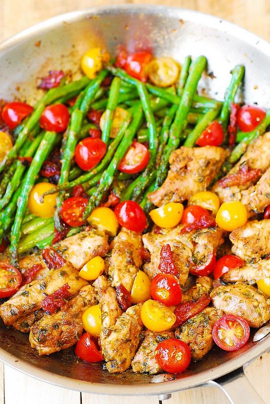 one-pan-pesto-chicken-and-veggies