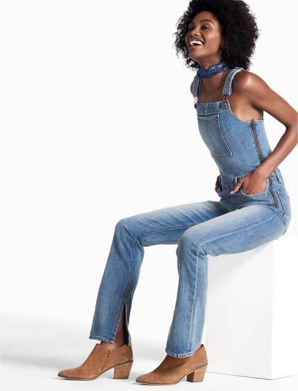 BRIDGETTE DENIM OVERALLS