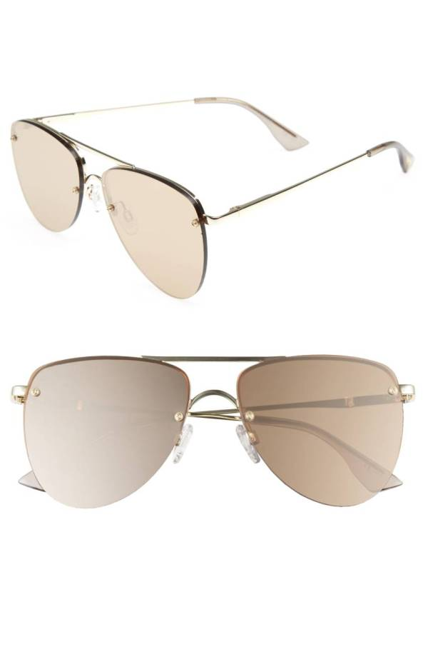 The Prince 59mm Mirrored Rimless Aviator Sunglasses