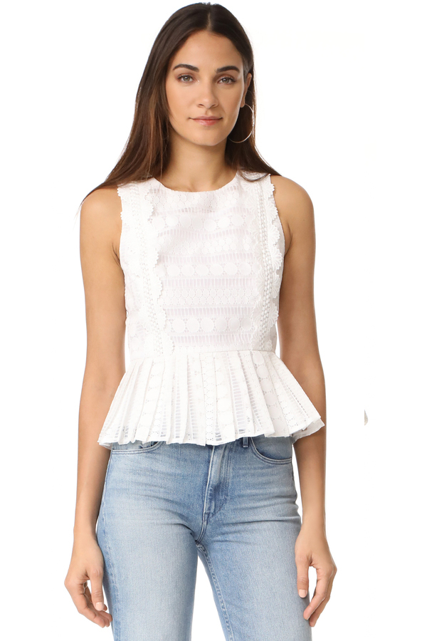 J.O.A. Lace Mix Top
