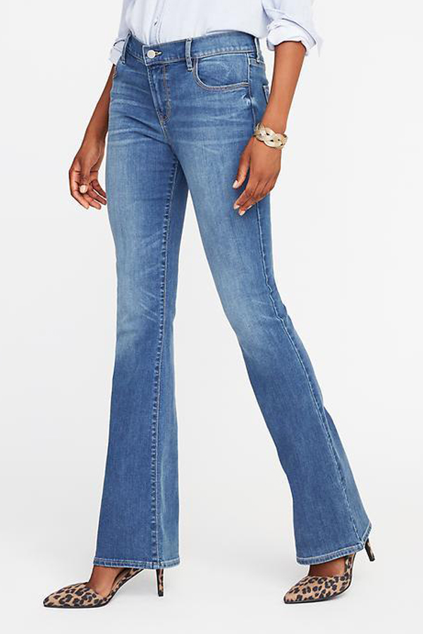 Old Navy Mid-Rise Micro-Flare Jeans