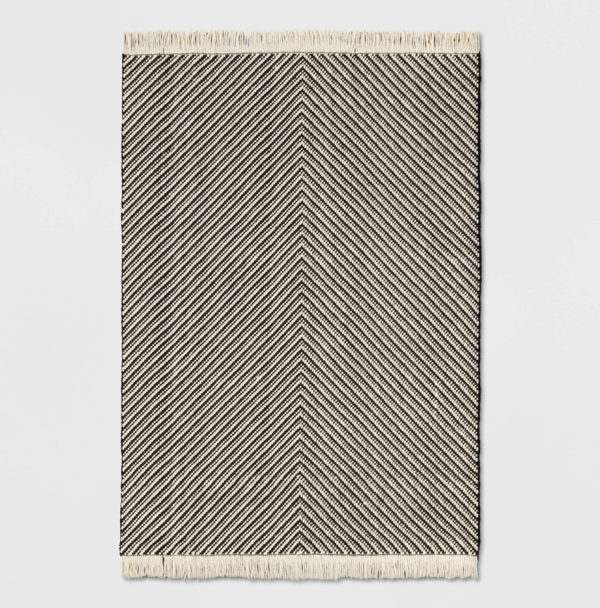 Black White Chevron Area Rug - Project 62™