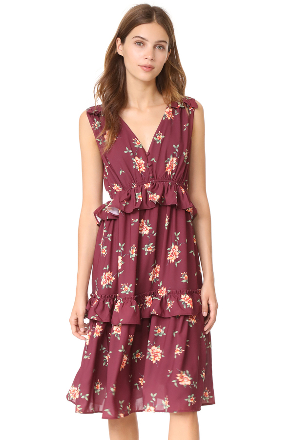 Ella Moon Multi Ruffle Midi Dress