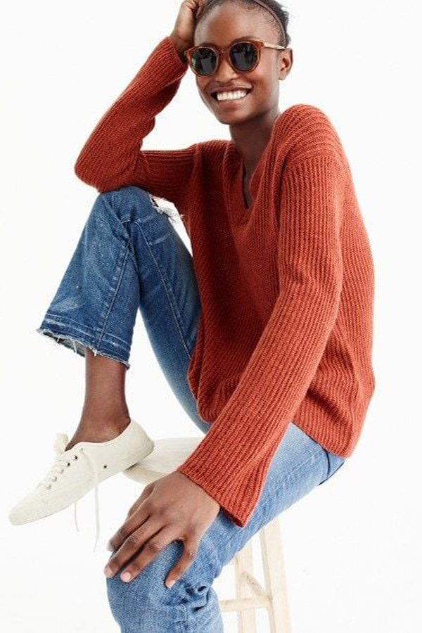 J.Crew Oversized V-neck sweater