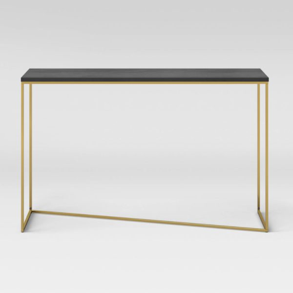 Sollerod Console Table - Brass and Black - Project 62™