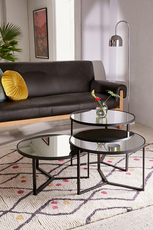 Elliot Mirrored Coffee Table