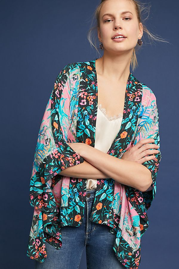 Anthropologie Addie Cropped Kimono