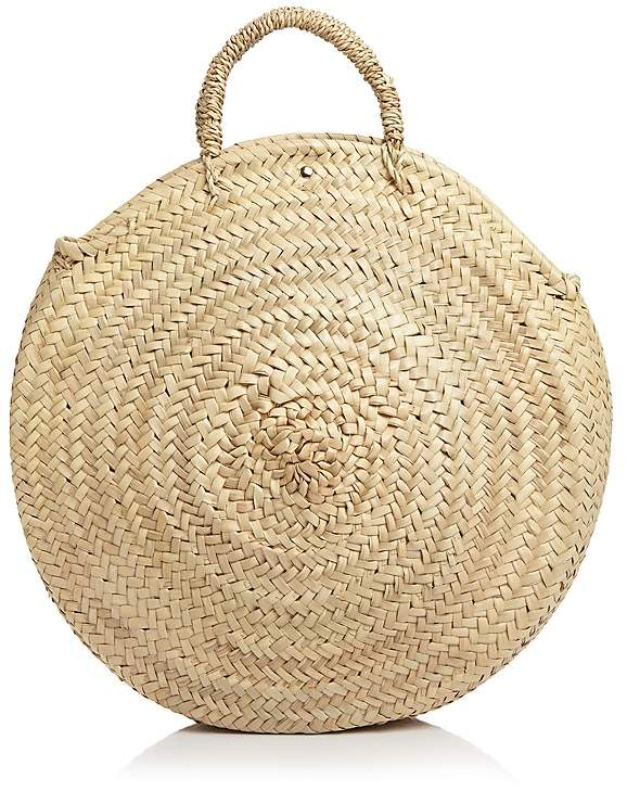 Caterina Bertini Straw Circle Tote