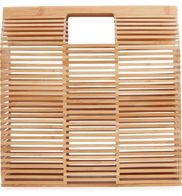 MALIBU SKYE Large Bamboo Box Clutch