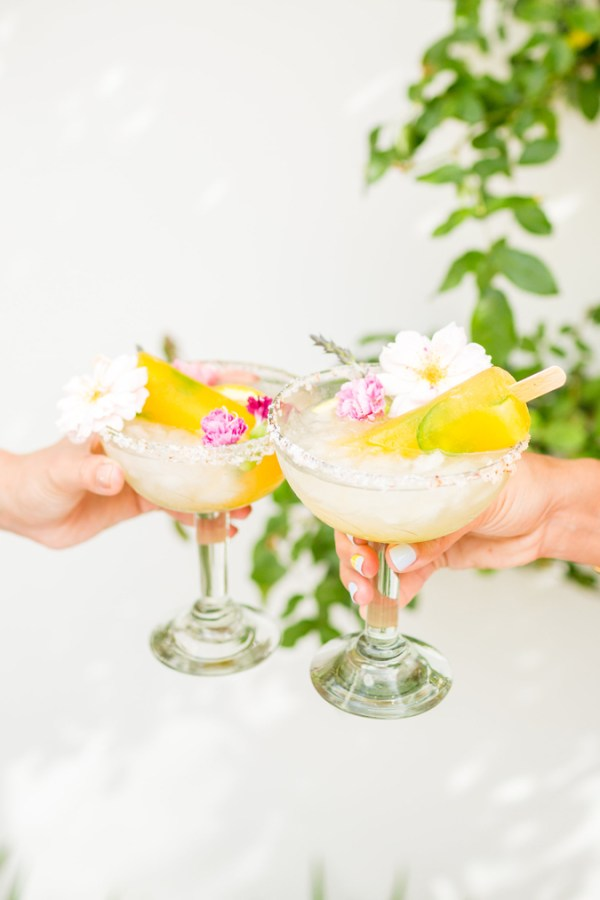 Spicy Mango Margarita Poptails.