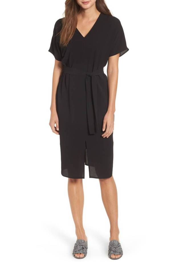 Bobeau Stretch Crepe Dress