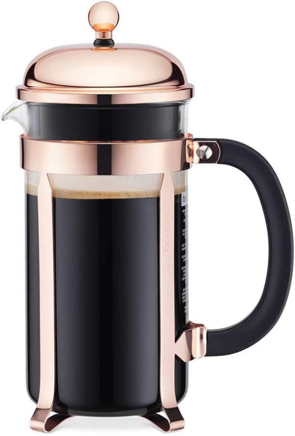 Bodum Classic Chambord Copper 8 Cup French Press Coffee Maker