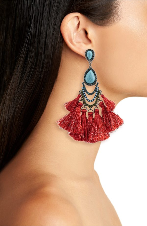 Kitsch Tassel Drop Earrings