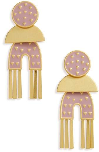 Madewell Geo Enamel Earrings