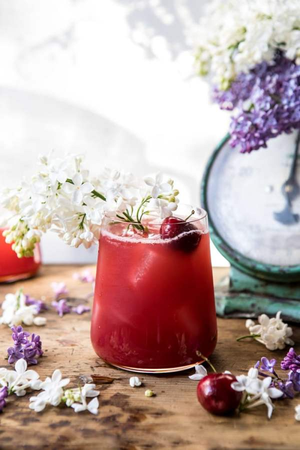 Hibiscus Cherry Vodka Spritz!