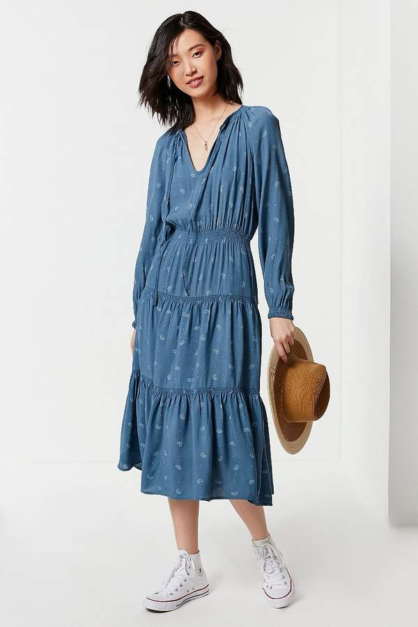 Reese Tiered Smocked Midi Dress