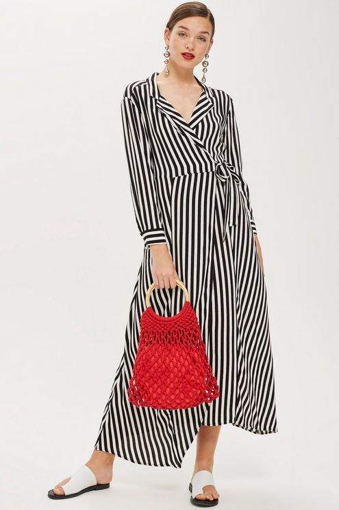 Topshop Stripe shirt dress