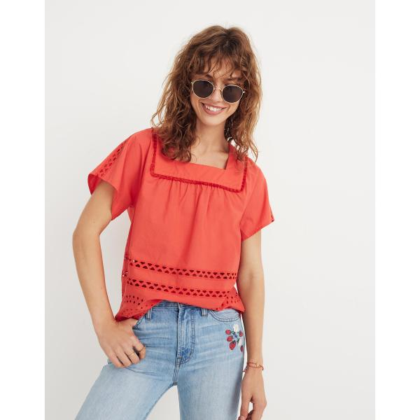 Eyelet Angelica Top