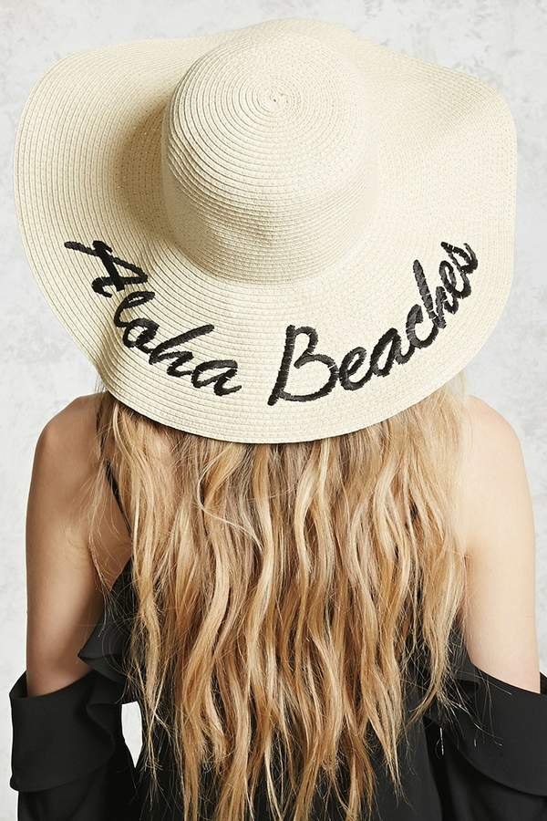 Aloha Beaches Graphic Straw Hat