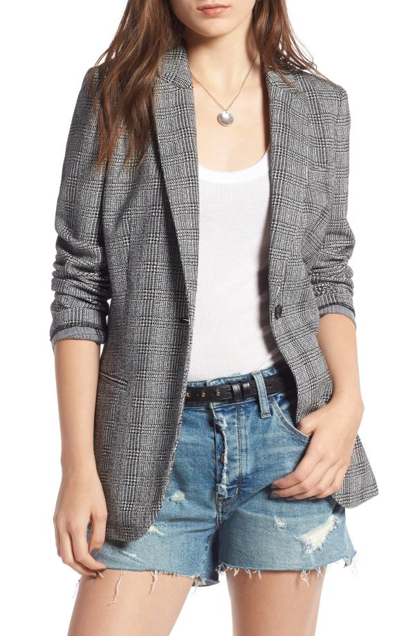 Treasure & Bond Glen Plaid Blazer