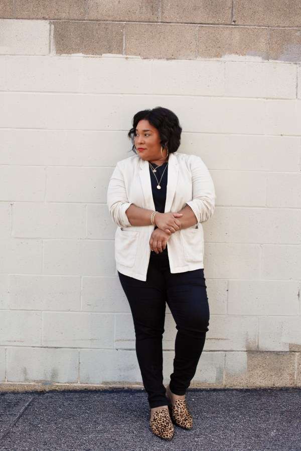 Black Denim Linen Blazer
