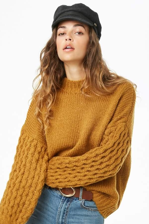 Forever 21 Plush Mock Neck Sweater