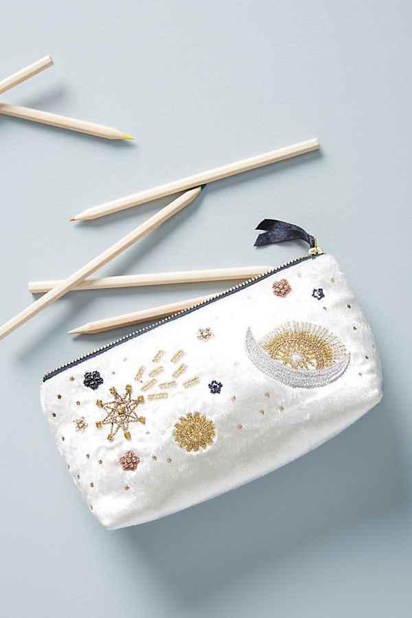 Clair Embellished Pencil Pouch