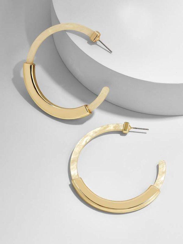 Tassiana Resin Hoop Earrings