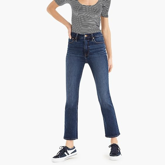 Curvy Demi-Boot Crop Jean