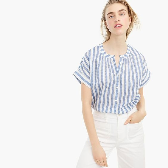 Point Sur Short-Sleeve Popover Shirt