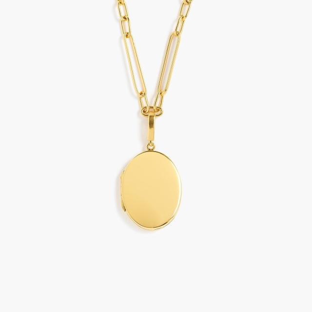 J. Crew Demi-Fine 14k Gold-Plated Locket