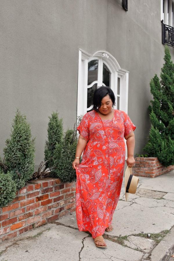 Paisley-Print-Maxi-Dress
