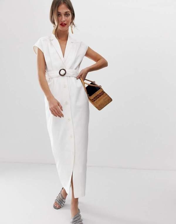 ASOS DESIGN Denim Maxi Shirt Dress