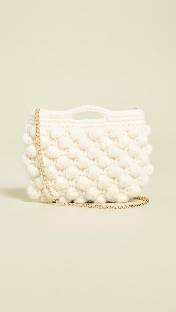 Caterina Bertini Woven Crossbody Bag