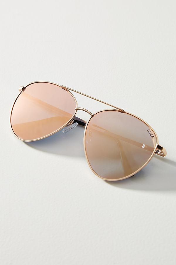 I Sea Mirrored Aviator Sunglasses