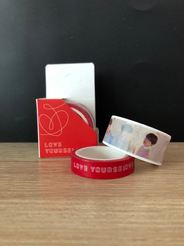 bts love yourself washi tape
