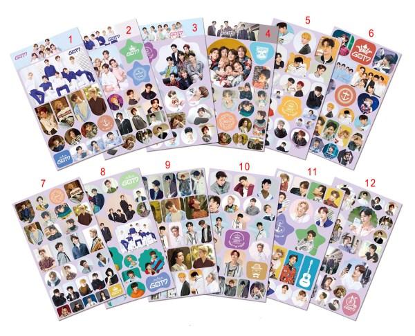 got7 sticker diy