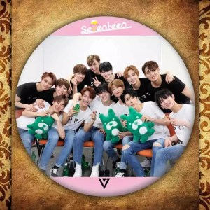 seventeen svt pin badge brooch