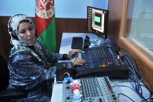 A radio station run by women was one of the first places targeted by the Taliban when it briefly seized the northern Afghan city of Kunduz late last month. courtesy www.rferl.org