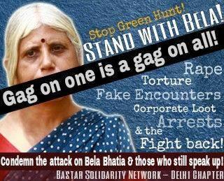 Tribal rights activist Bela Bhatia-Will not...