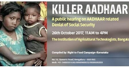Public hearing on Killer Aadhaar -the Denial...